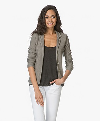 Belluna Etoile Cotton Blend Knitted Blazer - Greyish khaki