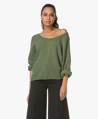 American Vintage Hanapark Cropped Sleeve Sweater - Printemps
