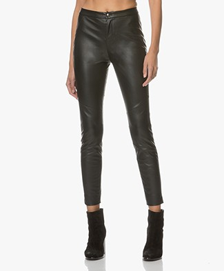 BOSS Orange Saby Faux Leather Pants - Black
