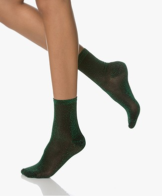 BY-BAR All Over Lurex Socks - Green