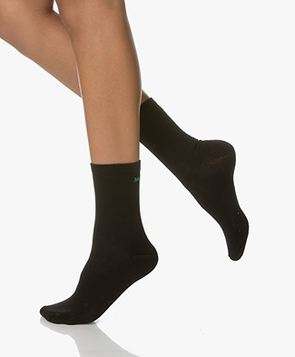 BY-BAR Lurex Merry X-mas Socks - Black/Green
