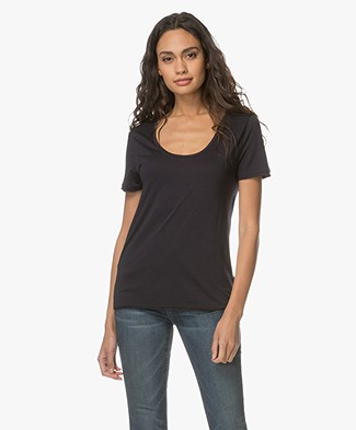 Filippa K Scoop Neck Tee - Navy