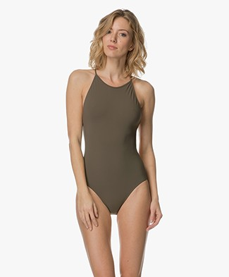 Filippa K Tie-back Swimsuit - Kaki