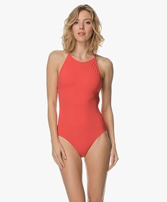 Filippa K Soft Sport Tie-back Swimsuit - Scarlet