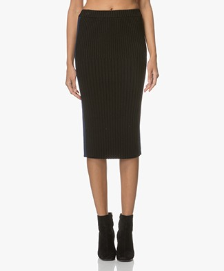 Joseph Rib Knitted Pencil Skirt - Black