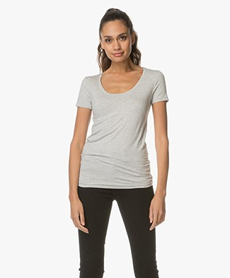 Majestic Soft Touch Jersey T-shirt - Nacre Chine
