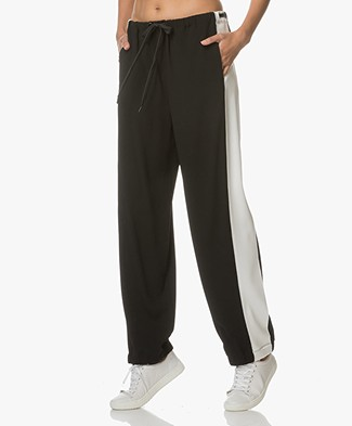 Rag & Bone Pacey Two-tone Sweatpants - Black/White