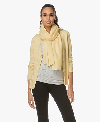 Repeat Cashmere Scarf - Light Yellow