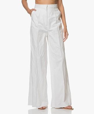 Sportmax Sangria High-Rise Wide Leg Pants - White