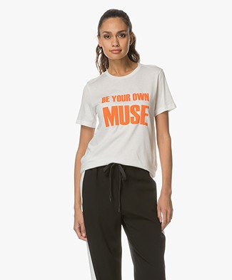 By Malene Birger Rialtoh Statement T-Shirt - Soft White