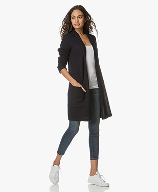 Joseph Open Long Cashmere Cardigan - Navy