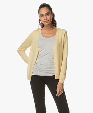 Repeat Cashmere V-neck Cardigan - Light Yellow