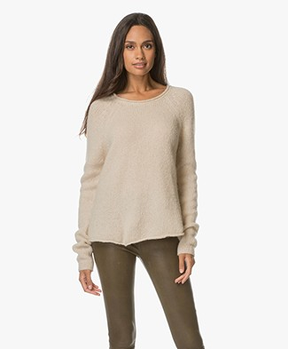 American Vintage Vacaville R-neck Sweater - Pearl