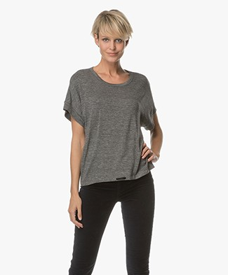Filippa K Draw-string Top - Grijs Mêlee