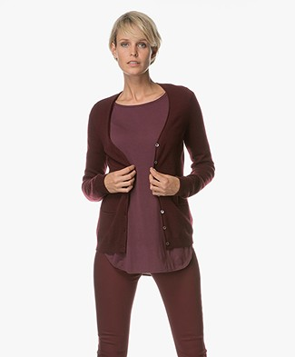 Repeat Cashmere Klassiek Vest - Bordeaux