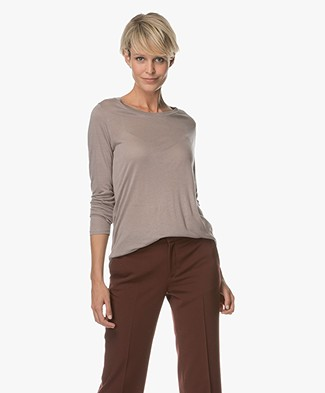 Repeat Modal and Cashmere Long Sleeve - Stone