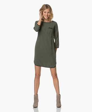 BY-BAR Noa Washed Tencel Dress - Olive