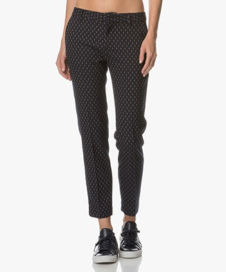 MKT Studio Pirate Cropped Pants - Dark Blue/Light Beige