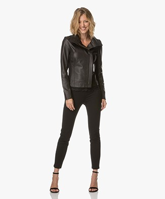 BRAEZ Leather Jacket - Black