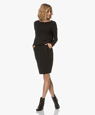 By Malene Birger Amill Long Sleeve Dress - Black