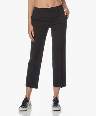Filippa K Linet Cropped Pantalon - Navy
