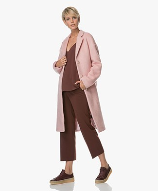 Filippa K Parker Plush Wool Jas - Powder Pink