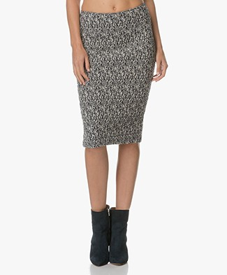 Josephine & Co Adria Jersey Pencil Skirt - Navy/Off-white