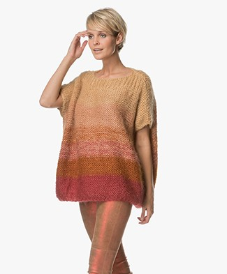 Mes Demoiselles Moon Chunky Knit Pullover - Sunset
