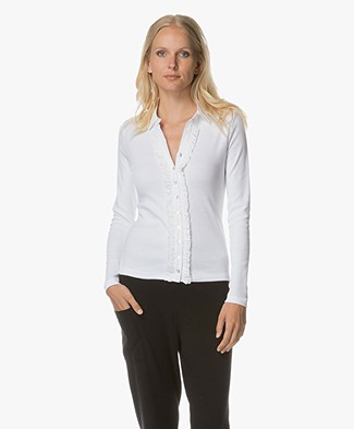 Belluna South Park Jersey Blouse - Wit