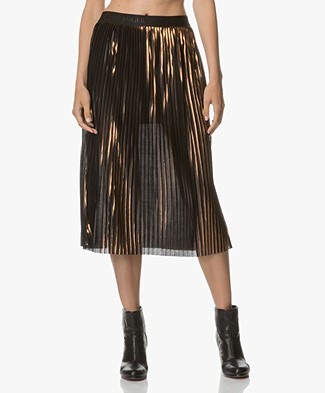 By Malene Birger Iauno Pleated Skirt - Copper
