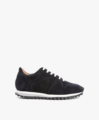 Closed Runner Suede Sneakers - Navy