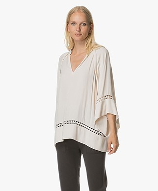 Magali Pascal Nomad Viscose Top - Dusty White