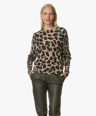 Zadig et Voltaire Justy Camouflage Cashmere Trui - Mastic