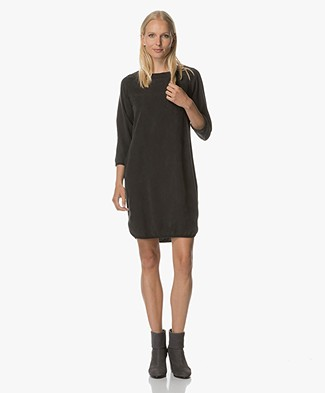 BY-BAR Noa Washed Tencel Dress - Off-Black