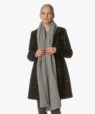 Drykorn Dub Boucle Scarf in Wool Blend - Grey