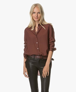 Filippa K High-Low Tencel Blouse - Fig