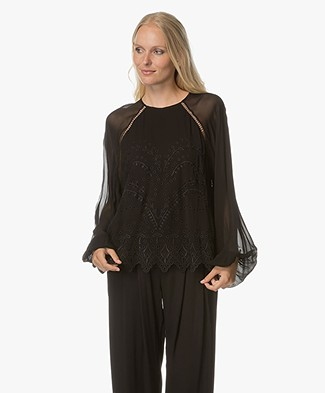 Magali Pascal Harmony Viscose Top - Black