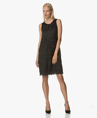 no man's land Open-Worked Dress - Core Black
