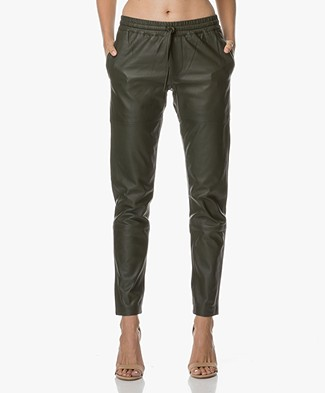 Zadig et Voltaire Parone Deluxe Leather Pants - Khaki