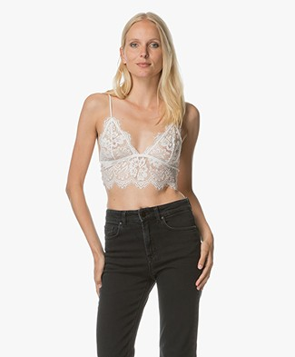 Anine Bing Floral Lace Bralette - White