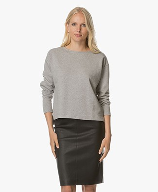 BY-BAR Dia Tweed Sweater - Lichtgrijs