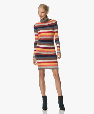 Josephine & Co Aziza Rib Turtleneck Dress - Multi-colour