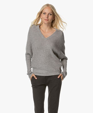 Repeat Oversized Knitted Sweater - Light Grey