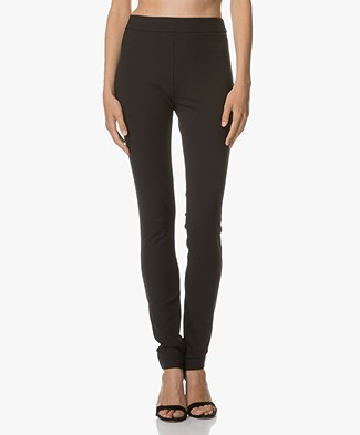 Theory High Waist Stretch Legging - Zwart