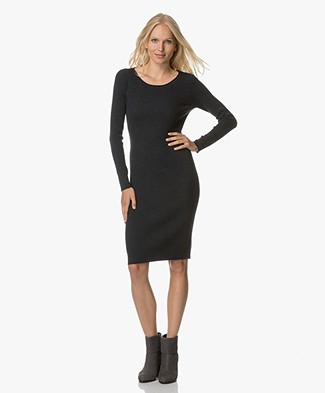 no man's land Knit Dress - Deep Ink