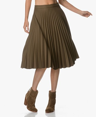 FWSS Anna Plisse Skirt - Bronze Green