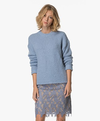 Filippa K Structure R-neck Pullover - Deep Sea