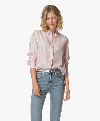 Filippa K Washed Silk Blouse - Powder Pink