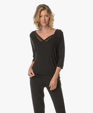 Calvin Klein Top in Modal Jersey - Black