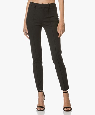 Drykorn Pantalon Act with Graphic Design - Black